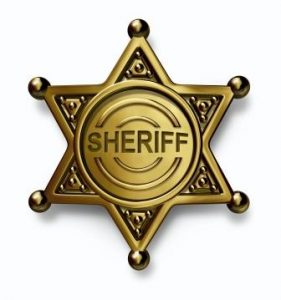Sheriff Enforcing Eviction in California